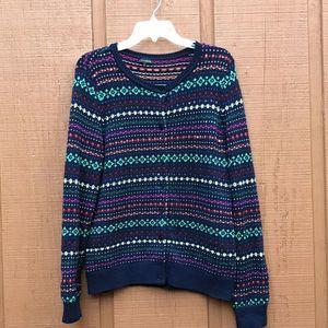 Talbots Multicolor Sequin Cardigan Sweater